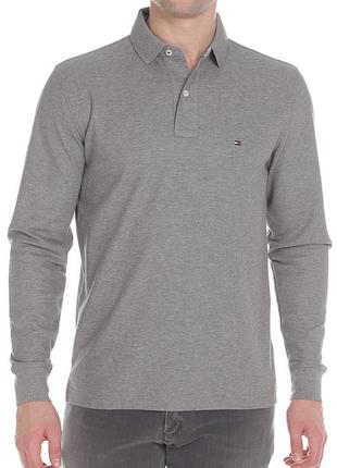 Поло/футболка на длинный рукав tommy hilfiger premium pique regular fit polo ls