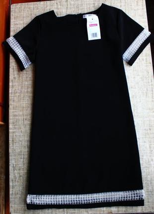 Новое, черное, платье, плаття, сукня, черное, чорне, миди, нарядное, трапеция