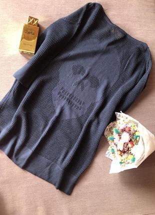 Актуальный свитерок с черепком сзади pullit ( не секонд)