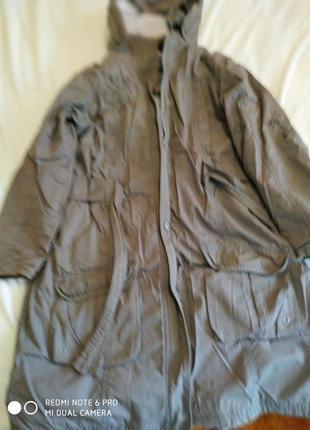 Плащ пальто из натурального котона подкладка натуральный материал