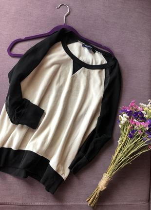 Трендовая бархатная  кофта , свитер с прозрачными рукавами french connection