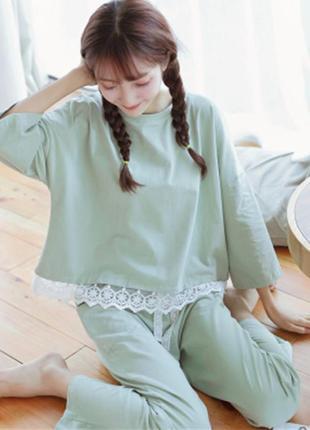 Пижама с кружевом