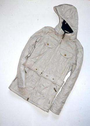 Barbour. бежевая стёганная куртка на флисе. л. 12. 38