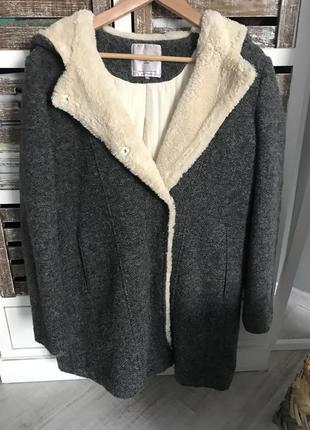 Пальто шуба мех zara