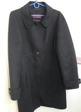 Пальто с шикарным составом ангора/шерсть max mara studio.