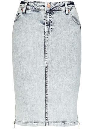 Джинсовая юбка-карандаш с молнией сбоку river island