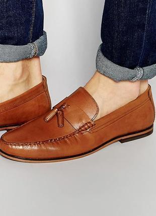 Натуральные кожаные туфли лоферы асос red tape от asos