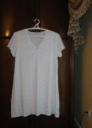 Ночная сорочка marks&spencer, 100% хлопок, размер 18/46