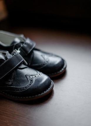 Кожаные туфли chicco темно-синие
