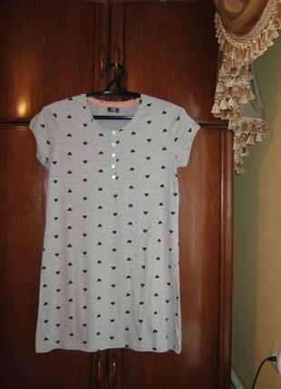 Ночная сорочка f&f, хлопок, размер 12-14