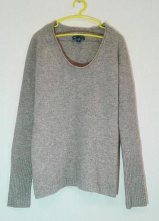 Теплый базовый свитер 100% шерсть lambs wool