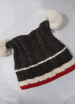 Тёпленькая шапочка девочке 6-8 лет