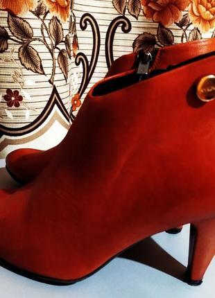 Ботильоны фирмы ryłko нат. кожа , сапоги , ботинки женские , 38 размер