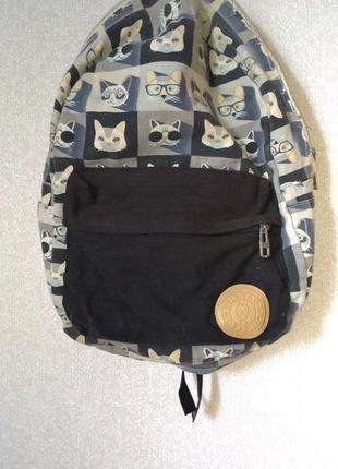 Тканевый рюкзак с котами