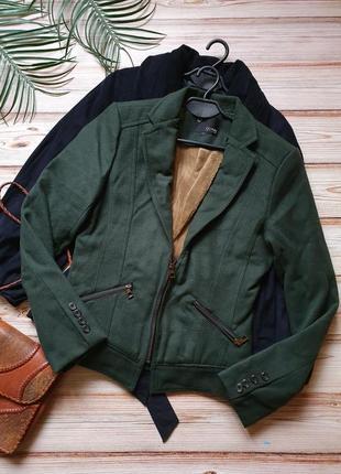 Кашемировая теплая куртка на меху авиатор