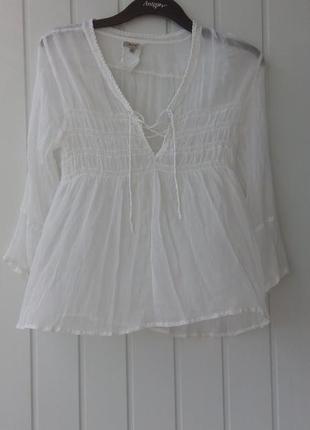 Воздушная шелковая блуза
