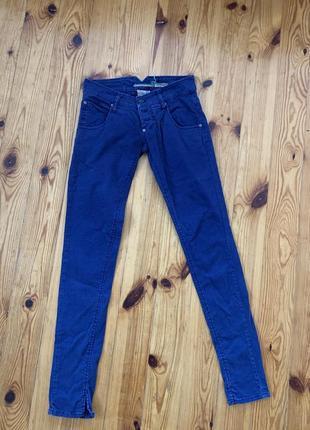 Трендовые синие джинсы брюки штаны размер с коттон