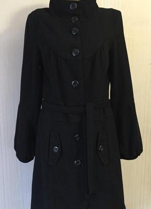 Элегантное пальто *vero moda* р. м - 50% шерсть