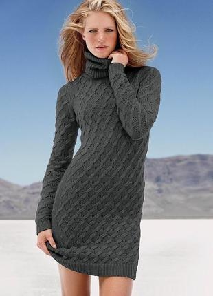 Вязаное чернее платье  victorias secret