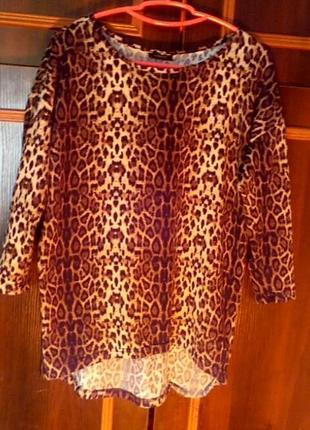 Лерпардовый свитер