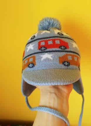 Зимова тепла шапка на 1-2р.