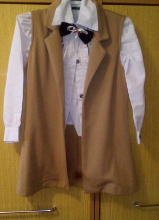 Школьная жилетка, блуза