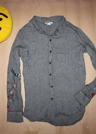 Рубашка с вышивкой от h&m