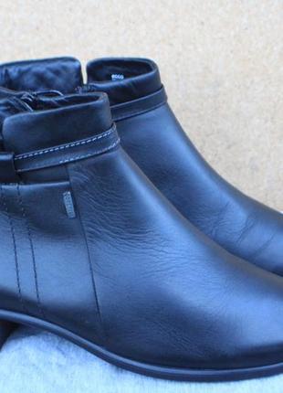 Ботинки ecco gore-tex кожа 36р ботильоны непромокаемые