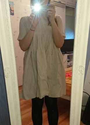 Просторное хлопковое платье molegi (можно для беременной)