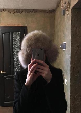 Женская меховая шапка. натуральный мех. бу