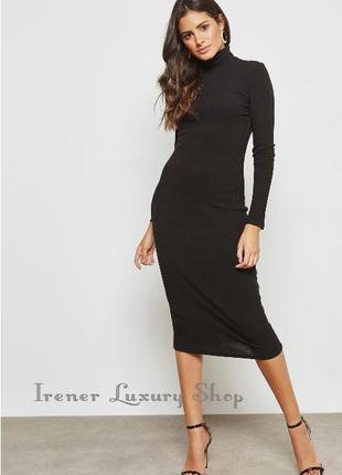 Черное миди платье гольф mango s-m-l