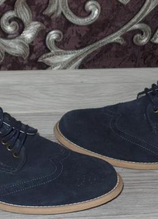 Кожаные фирменные туфли р 40-41