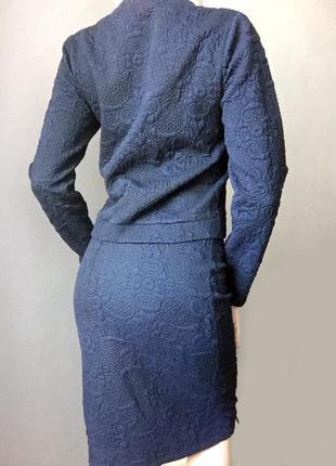 Фирменный жаккардовый костюм iicel london италия вискоза {жакет юбка}