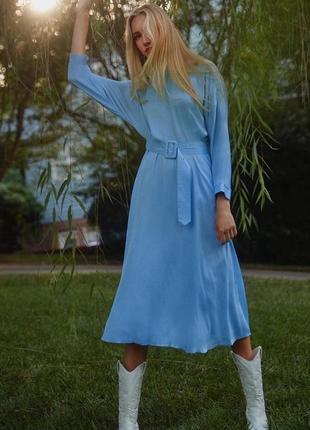 Zara платье голубое , xs, s, m, l