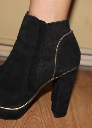Шыкарни  ботинки на каблуке натуральные river islande