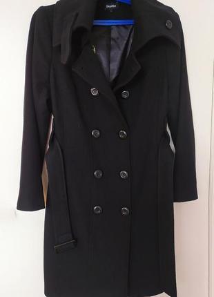 Двубортное пальто 65% шерсти