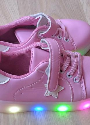 Новые кроссовки с подсветкой кеды неоновые светящиеся с лампочками