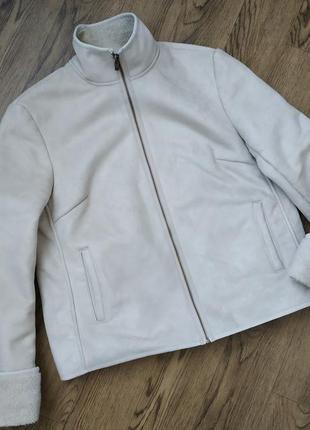 Дубленка короткая куртка фирменная светлая женская