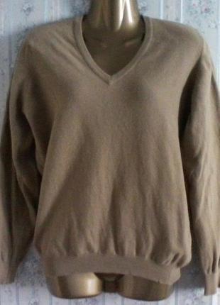 Шерстяной шотландский свитер джемпер, разм. 50, нюанс
