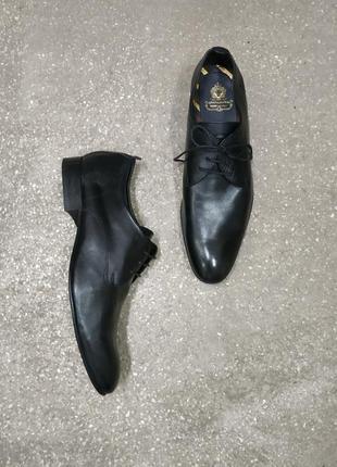 Классические кожаные туфли оксфорды от base london