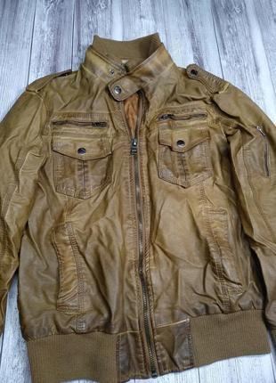 Куртка мужская кожзам colins