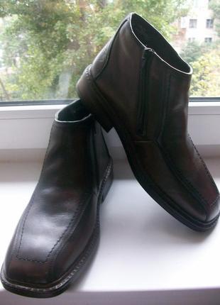 Ботинки зимние мужские натуральная кожа rieker р.42