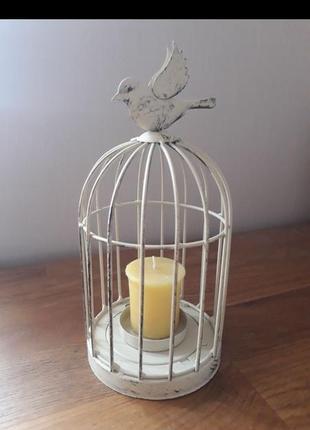 Подсвечник english home клетка с птичкой