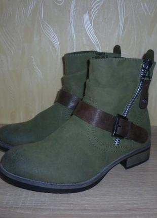 Демисезонные ботинки rieker (рикер)  эко кожа 38р.