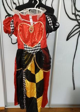 Карнавальный, костюм красная королева, злая мачеха