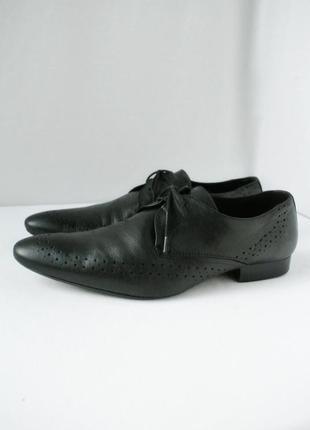 Стильные фирменные классические кожаные туфли hudson. размер 9/43.
