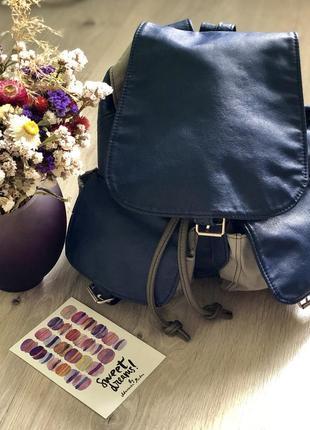 Винтажный рюкзак из кожзама