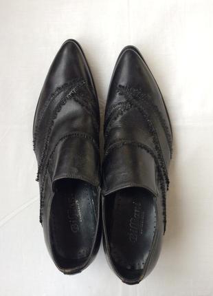 Мужские кожаные туфли billiani. дешево!