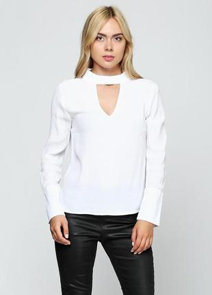 Белая блуза h&m на худышку