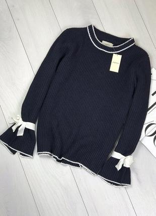 Темно-синий свитер papaya
